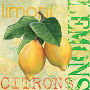 Words Posters - Froyo Lemon Poster by Debbie DeWitt