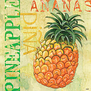 Food Posters - Froyo Pineapple Poster by Debbie DeWitt