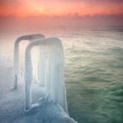 Dawn Prints - Frozen Print by Evgeni Dinev