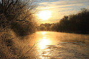 Monadnock Region Posters - Frozen Fog at Sunrise on the Ashuelot River Poster by John Burk