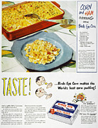 Birdseye Photo Acrylic Prints - Frozen Food Ad, 1947 Acrylic Print by Granger