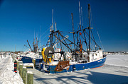 Massachusetts Art - Frozen Hyannis Harbor by Matt Suess