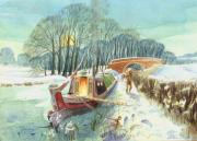 Union Bridge Paintings - Frozen in by Alan Taylor