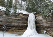 Michigan Waterfalls Prints - Frozen in time Print by Michael Peychich