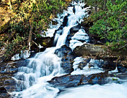 Susan Leggett Posters - Frozen Waterfall Poster by Susan Leggett