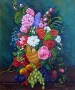 Peach Originals - Fruit and Flowers by Janet Silkoff