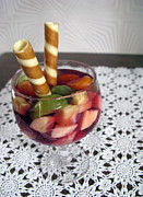 Fruit And Jelly Coctail. Birthday Dessert. Print by Ausra Paulauskaite
