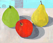 Food And Beverage Mixed Media - Fruit And Shadows by Laurie Breen