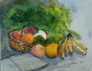 Fruits Paintings - Fruit And Veggies by Patricia Novack