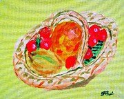 Work Prints - Fruit Basket Print by Buddy Paul