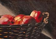 Basket Pastels Prints - Fruit Basket Print by Keith Gantos