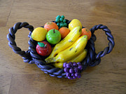 Basket Sculptures - Fruit Basket by Ryan Wilson