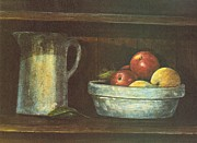 Pottery Pitcher Metal Prints - Fruit Bowl Metal Print by Charles Roy Smith