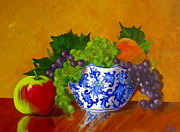 Grapes Paintings - Fruit Bowl II by Pete Maier
