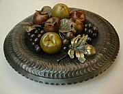 Apple Sculptures - Fruit bowl by MD Selinsky