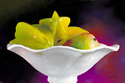Mango Digital Art Prints - Fruit Bowl Print by Michelle Wiarda