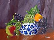 Fruit Still Life Framed Prints - Fruit Bowl Framed Print by Pete Maier