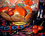 Interior Still Life Painting Metal Prints - Fruit Metal Print by Brian Simons