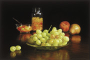 Dark Pastels Posters - Fruit Cocktail Poster by Barbara Groff