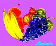 Ocean Art Paintings - Fruit Flip by Ocean