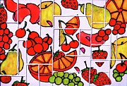 Fruit Fractals Print by Farah Faizal