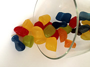 Gummies Or Jelly Sweets Posters - Fruit Gummi Candy Poster by Cheryl Young