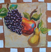 Log Cabin Art Painting Posters - Fruit. Poster by Madison Latimer
