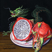 Lynette Cook Paintings - Fruit of the Dragon by Lynette Cook