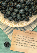 Linens Prints - Fruit of the Spirit 2 Print by Jill Battaglia