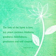 Self-control Prints - Fruit Of The Spirit Print by Linda Woods