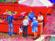 Umbrellas Metal Prints - Fruit of the Vendor Metal Print by Jeff Kolker