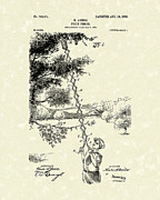 Picker Framed Prints - Fruit Picker 1903 Patent Art Framed Print by Prior Art Design