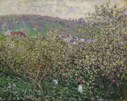 1879 Posters - Fruit Pickers Poster by Claude Monet