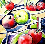 Tomatos Painting Metal Prints - Fruit Salad Metal Print by Diane Agius