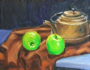Teapot Paintings - Fruit Set 3 by Bob Newman