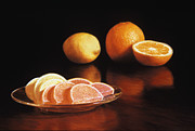 Glass Pastels - Fruit Slices by Barbara Groff