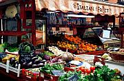Open Market Metal Prints - Fruit Stand Metal Print by Traveler Scout