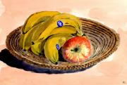 Healthy Eating Paintings - Fruit. Still Life. by Mike Lester