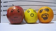 Faces Pyrography - Fruit suspect lineup by Daniel  Remmenga