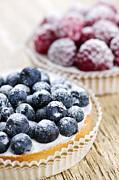 Fruit Tarts Print by Elena Elisseeva