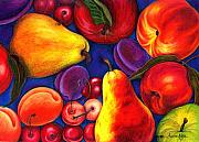 Anne Nye Acrylic Prints - Fruit Tumble Acrylic Print by Anne Nye