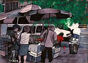 Fruit Vender Brooklyn Nyc Print by Al Goldfarb