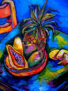 Tropical Fruit Paintings - Fruitful by Patti Schermerhorn