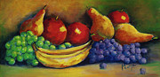 Bananas Paintings - Fruits Aplenty by Mary DuCharme