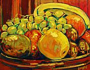 Food And Beverage Painting Originals - Fruits by Brian Simons