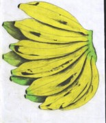 Banana Pastels Prints - Fruits Print by Daniel Kabugu