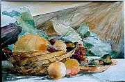 George Siaba Metal Prints - Fruits Metal Print by George Siaba