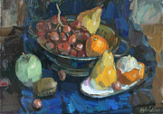 Modern Russian Art Posters - Fruits Poster by Juliya Zhukova