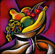 Fresh Food Painting Framed Prints - Fruits Framed Print by Leon Zernitsky