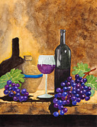 Italian Wine Paintings - Fruits of the Vine by Kimberlee Weisker